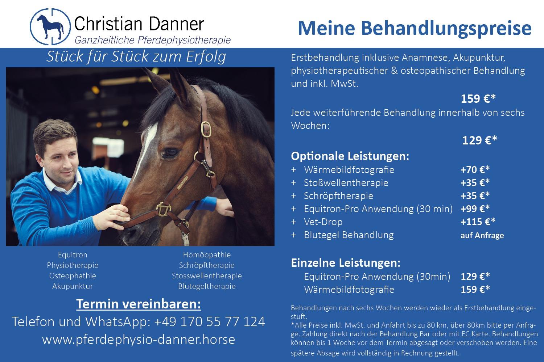 Pferdephysiotherapie Danner Preisliste